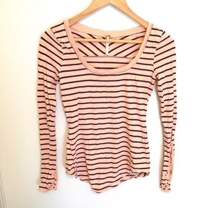 Free People Striped Long Sleeve